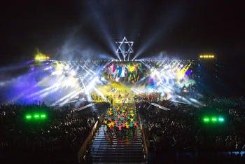 Opening ceremonies of the 20th Maccabiah Games, Teddy Stadium, Jerusalem, 6 July 2017.