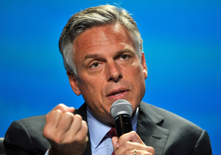 Jon Huntsman, former governor of Utah, speaks at a clean energy summit in Las Vegas. (David Becker/Getty Images)