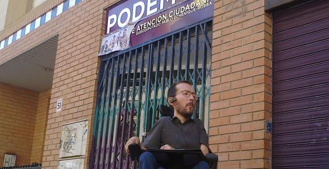 El secretario general de Podemos en Aragón, Pablo Echenique. E.B.