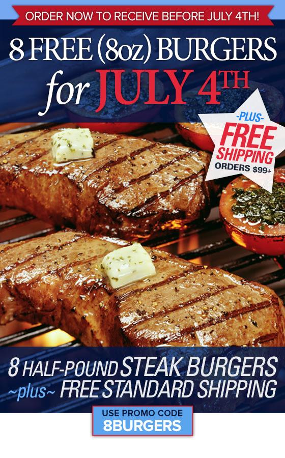 8 Free Burgers Plus Free Shipp...