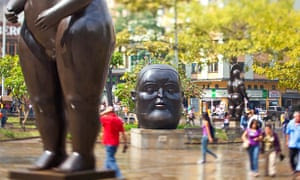 Boteros figure in Plaza Botero.