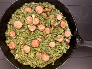 Cajun Green Beans with Sausage recipe.