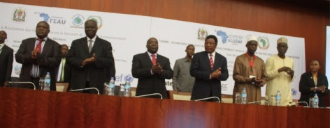Some officials at the opening of the 6th Africa Water Week in Tanzania.