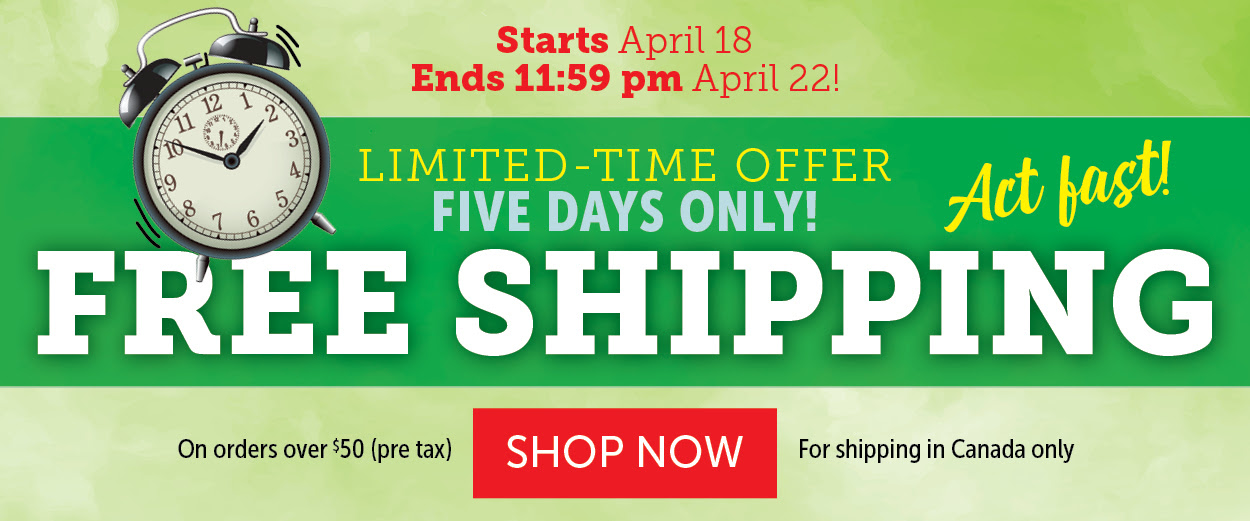 Free shipping from April 18 - April 22!
