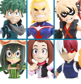 MY HERO ACADEMIA & AGGRETSUKO ACTION VINYL FIGURES