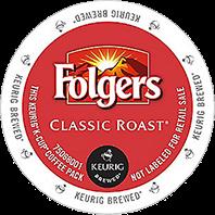 Folgers Classic Roast Keurig K-cup coffee