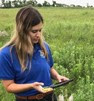 DFP Madison Fladeland in the field