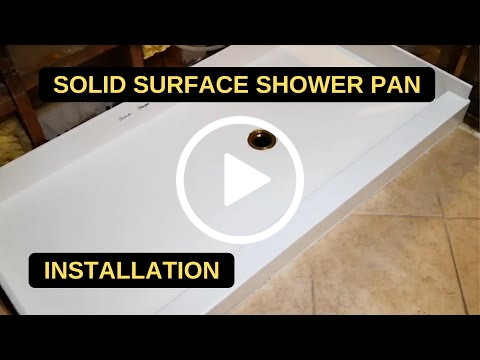 Solid Surface Shower Pan - Installation