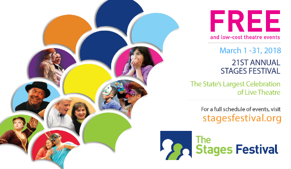 The Stages Festival March 1-31, 2018 stagesfestival.org