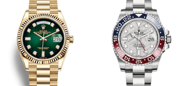 Day-Date Ombre and GMT Master Meteorite