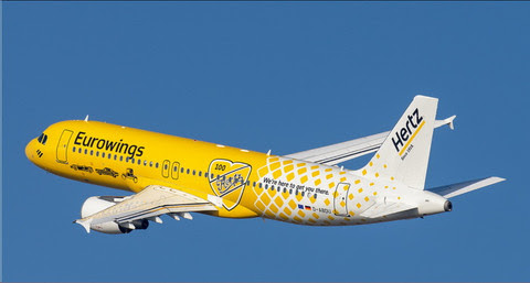 Airbus A320 Eurowings D-ABDU,'Hertz 100 Years' | is due: October 2019