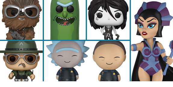 NEW FUNKO POP!, DORBZ & ROCK CANDY