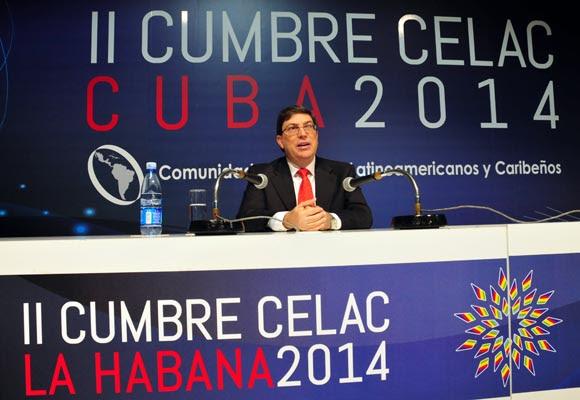 magen de la Sala de Conferencias de la II Cumbre de la Celac, antes de ser inaugurada en la mañana de este viernes por el Canciller cubano. Foto: Ladyrene Pérez/ Cubadebate