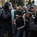 Pro-Russia protesters in Kharkiv, Ukraine, tried briefly on Sunday to push their way into the regional administration building.