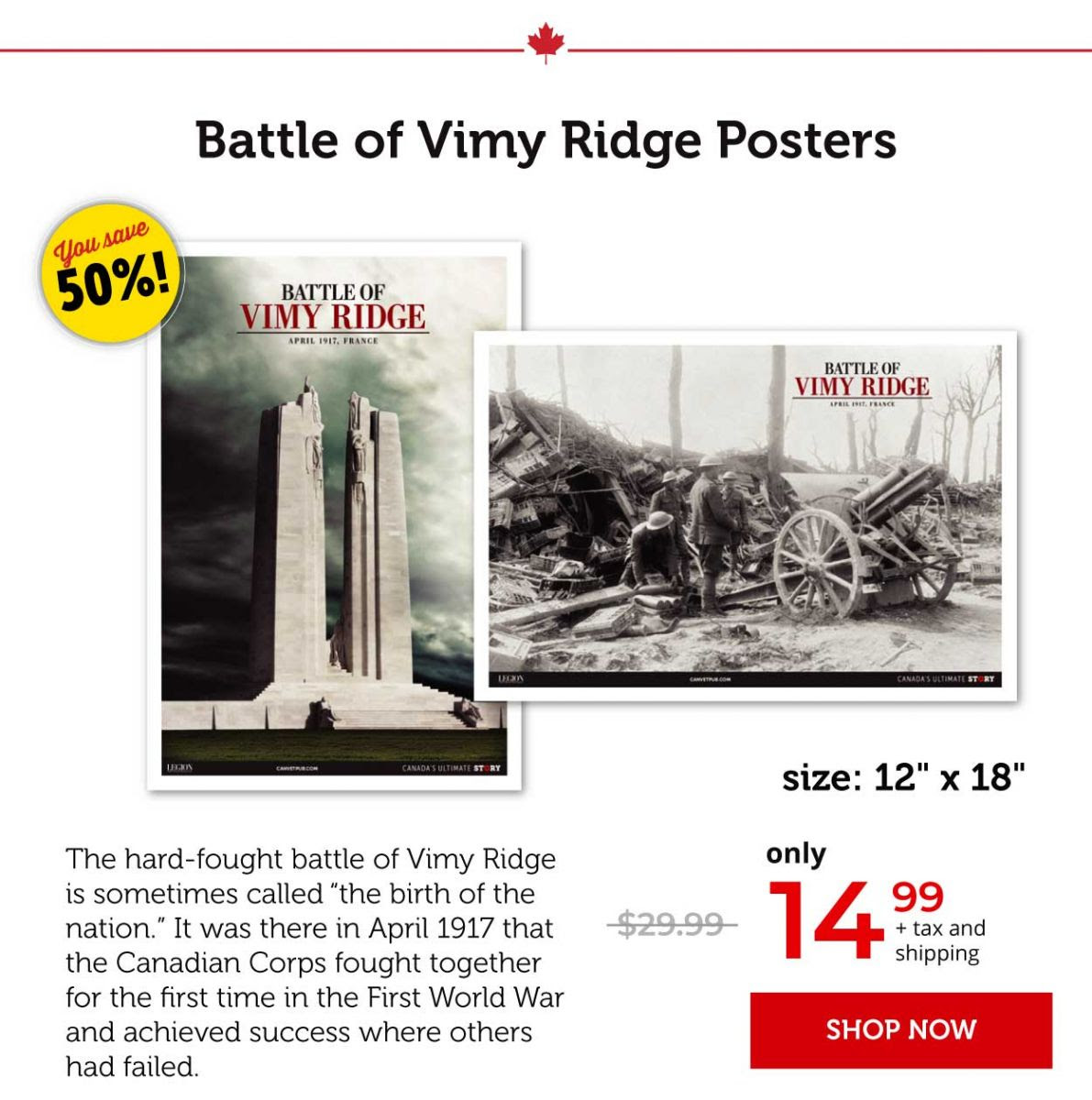 Battle of Vimy Ridge Posters