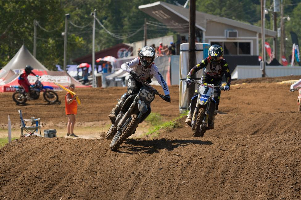 Darryn Durham and Mike Brown had an intense second moto in the Junior (25+) class.