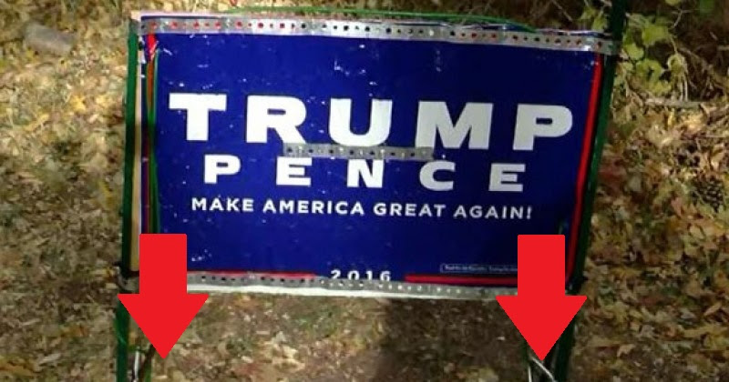 FED UP Marine Vet Takes EXTREME Measures To Protect TRUMP Sign From Liberal SCUMBAGS…