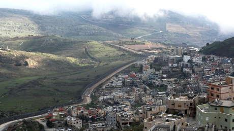 Imagen del territorio ocupado por israelí de los Altos del Golán, 25 de marzo de 2019.