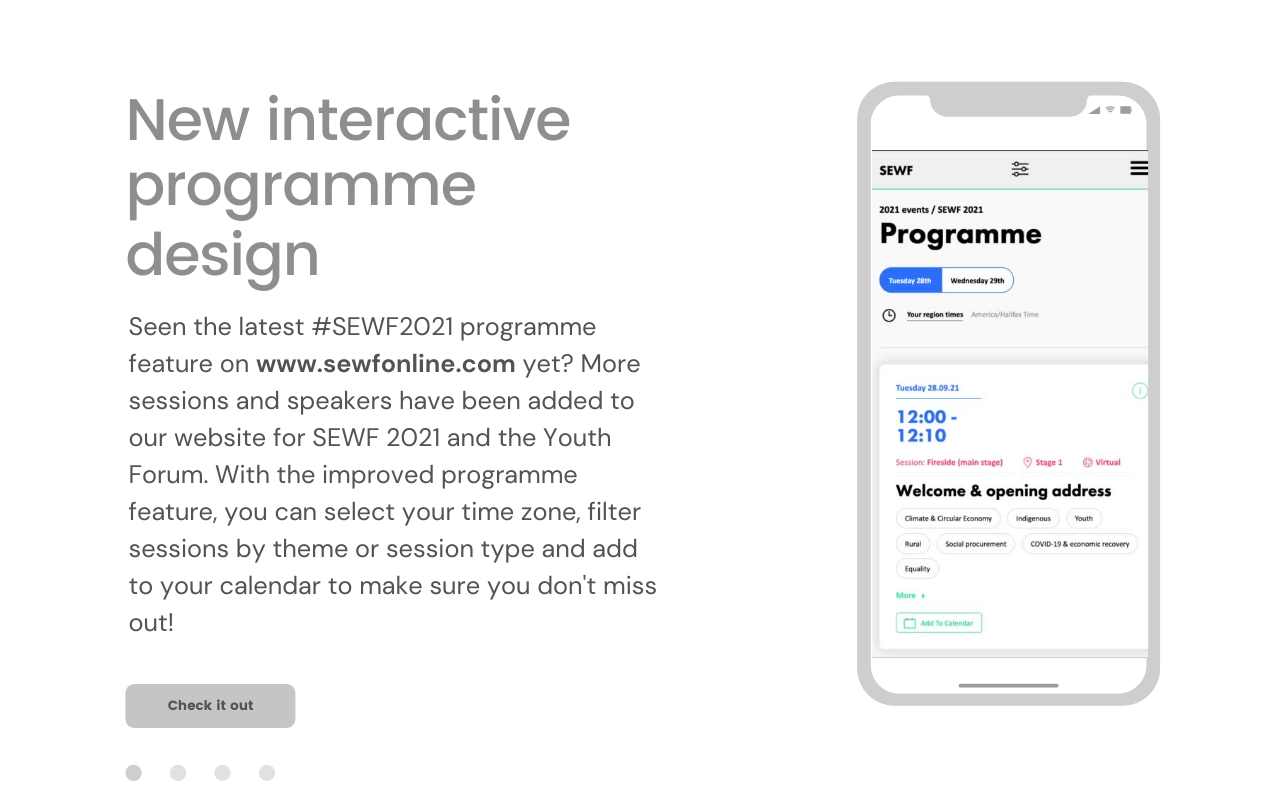 View our new interactive programme design! You can't miss this