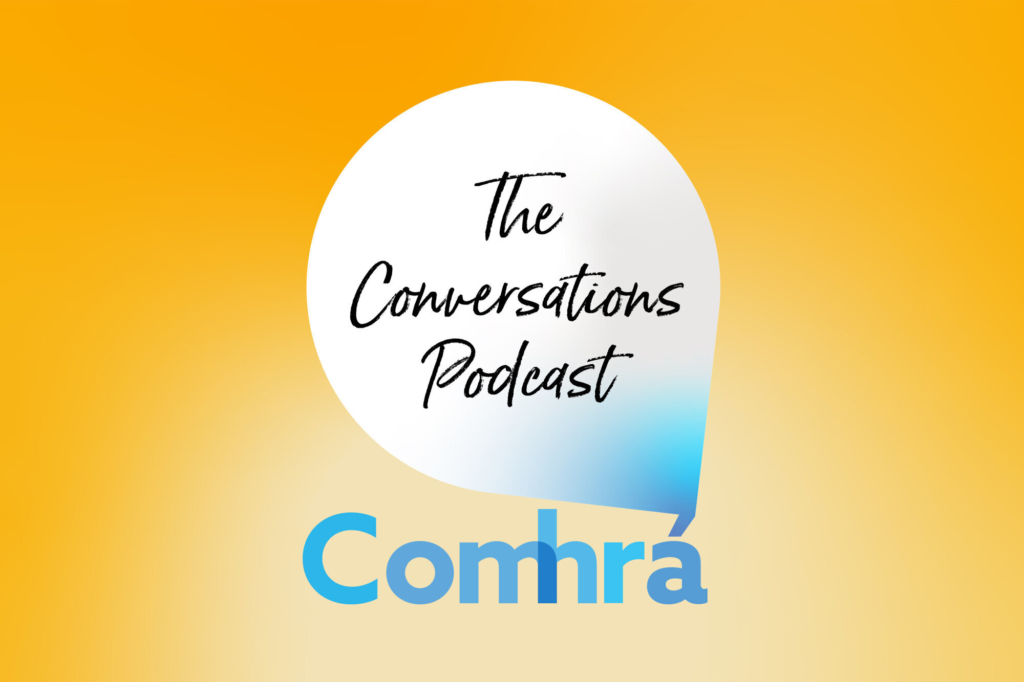 Logo of Comhrá, The Conversations Podcast, a podcast by the Bahá'ís of Ireland