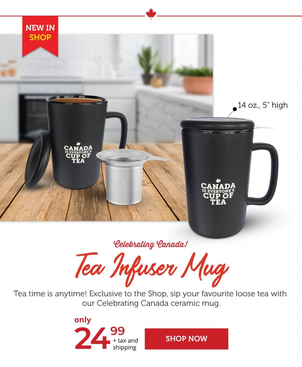 Tea Infuser Mug - Celebrating Canada!