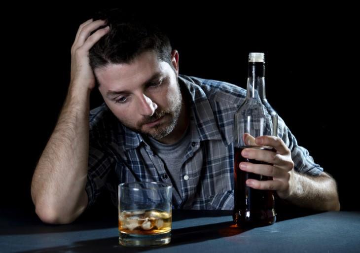 joke drunk depressed man at bar