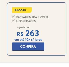 Pacote para o Rio de Janeiro a partor de 263 reais.