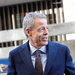 Jeffrey Bewkes, chief executive of Time Warner, center, testified Wednesday, becoming the first top executive of either his company or AT&T to testify in the Justice Department's lawsuit against the merger of the companies.