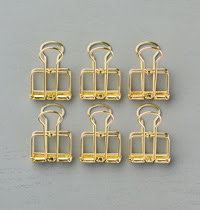 Gold Binder Clips