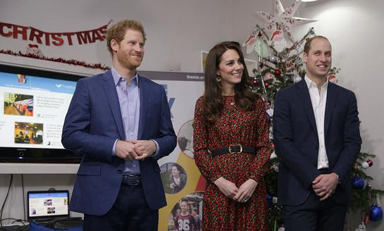 Prince Harry and the Duke and Duchess of Cambridge Attend Heads Together Christmas party