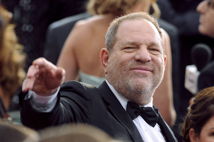 Harvey Weinstein arrives at the 2015 Oscars at the Dolby Theatre in Los Angeles. (Vince Bucci/Invision/AP)