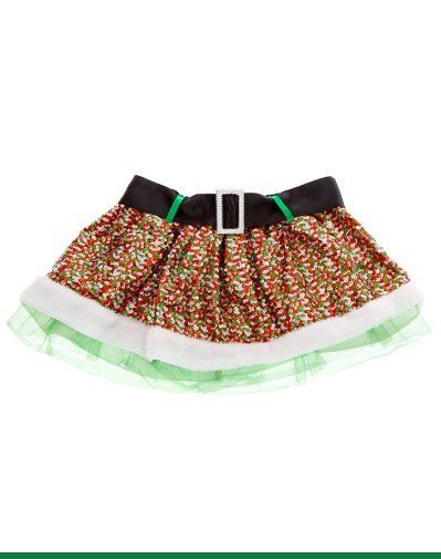 GREEN & RED SEQUIN TUTU