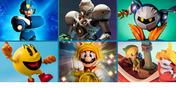 FIRST 4 FIGURES VIDEO GAME STATUES