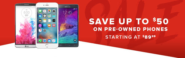 Save $50 on Pre-owned Phones a...