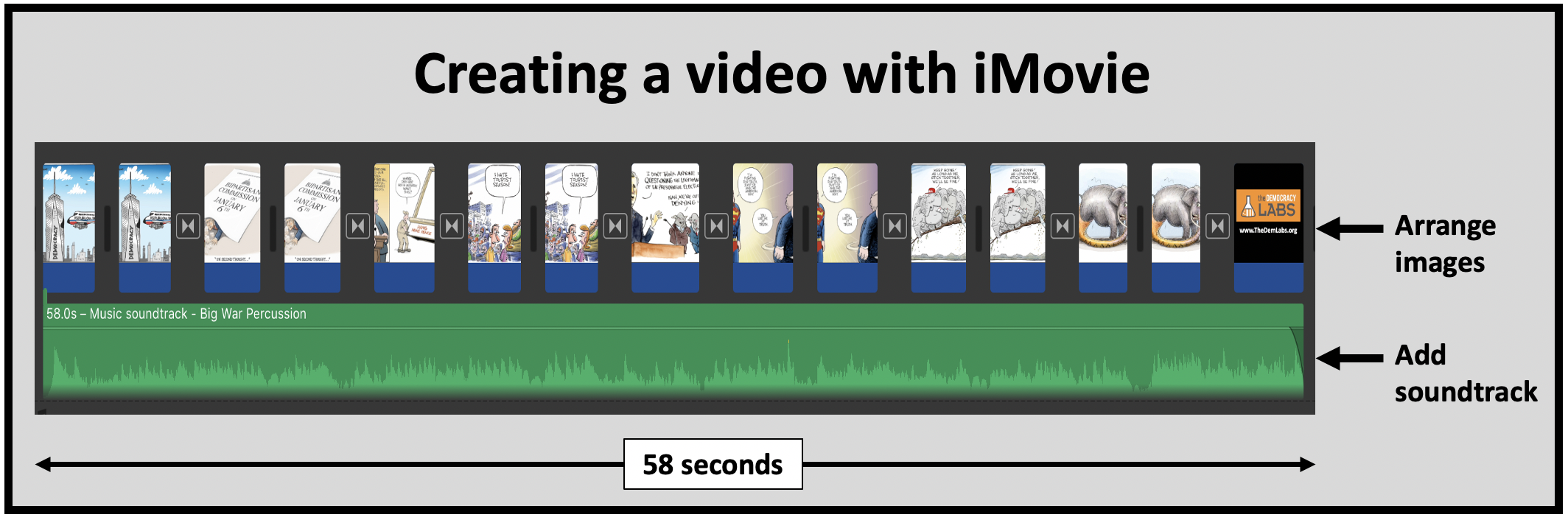 iMovie is a free app to create videos