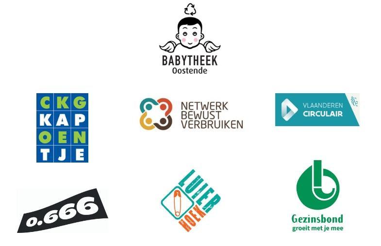 CKG Kapoentje, Netwerk Bewust Verbruiken, Vlaanderen Circulair, O666, De Luierhoek, Gezinsbond Oostende
