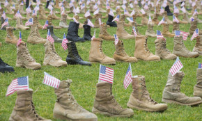 Boot Display Honoring Fallen Service Members to Go Up Saturday