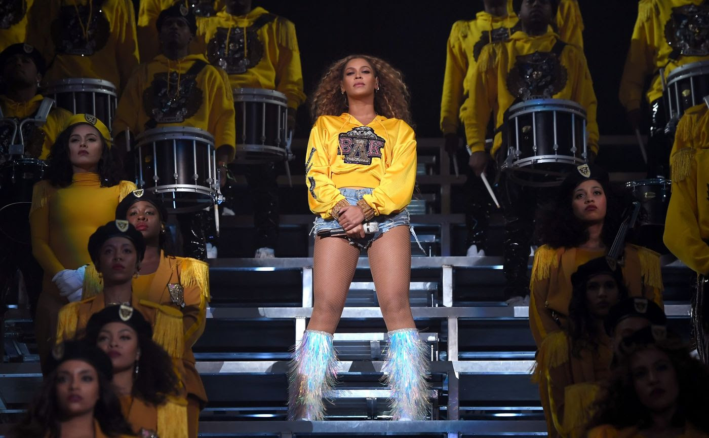 Beyonce Knowles performs onstage during 2018 Coachella Valley Music And Arts Festival in Indio, California, on April 14, 2018.