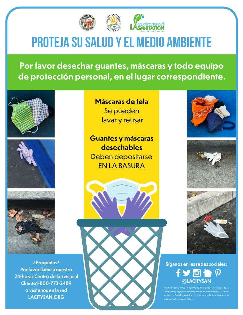 LA Sanitation - Ok to resuse masks after washing SPANISH