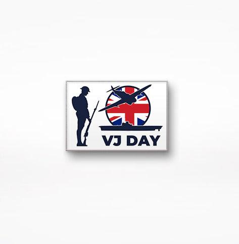 2021 VJ Day Commemorative Enamel Lapel Pin + FREE Sticker