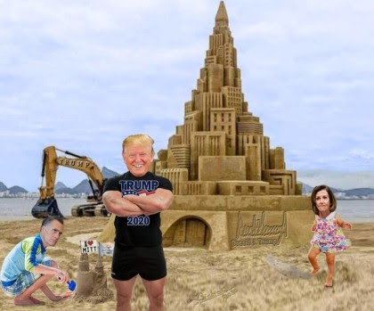 sand castle romney pelosi trump