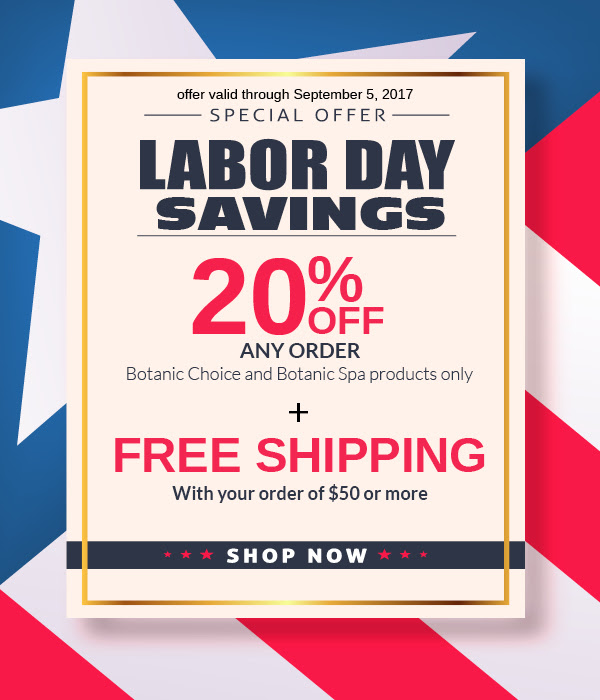 20% off any order plus free shipping on $50 orders or more.