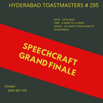 Hyderabad Toastmasters # 295, on 18 03 2019