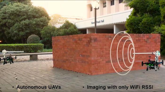 Deux drones utilisent le Wifi pour cartographier en 3D une pièce depuis l'extérieur