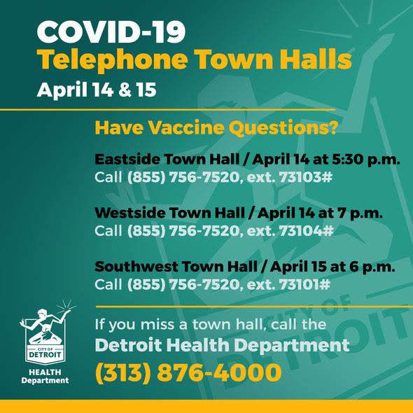 COVID-19 Town Halls April 14 & 15 2021