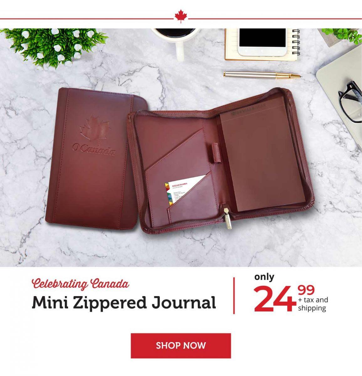 Mini Zippered Journal