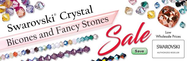 Swarovski Crystal Bicones and Fancy Stones Sale