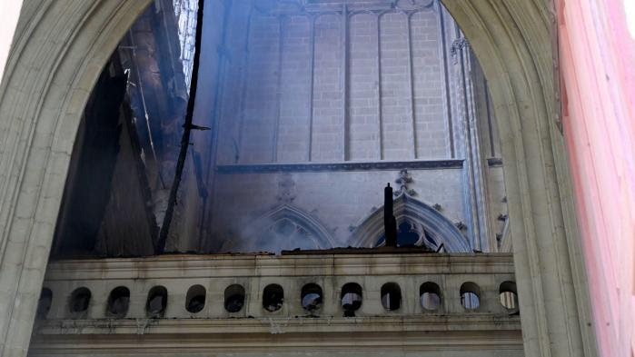 EN IMAGES. Nantes : découvrez les photos de l'incendie qui a endommagé la cathédrale