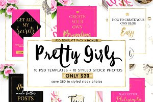 Pretty Girls Blog Templates + BONUS