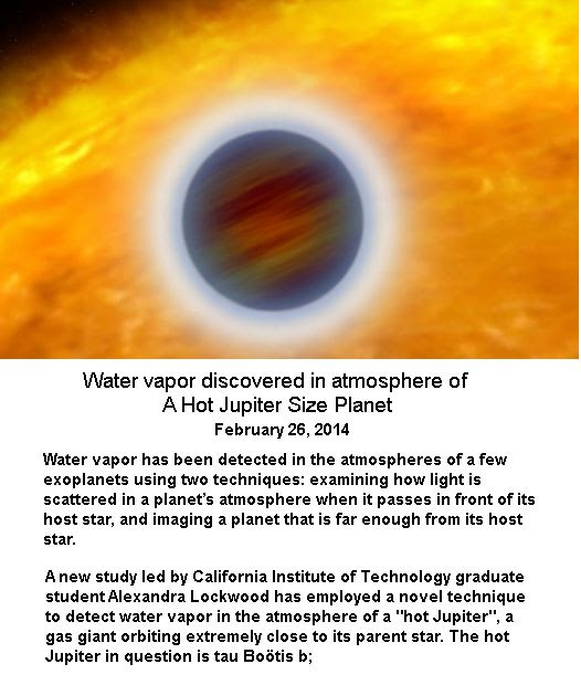 Water vapor discovery